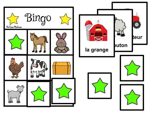 Mini bingo - la ferme
