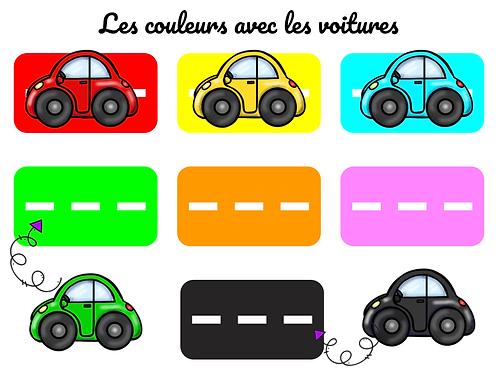 Les couleurs avec les voitures
