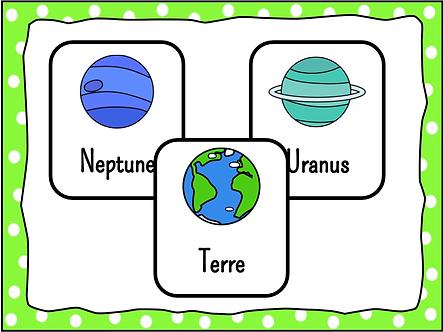 Cartes système solaire