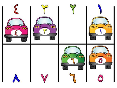 Jeu du parking chiffres arabes