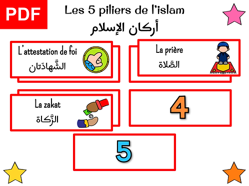 Jeu 5 piliers de l'islam (garçon)