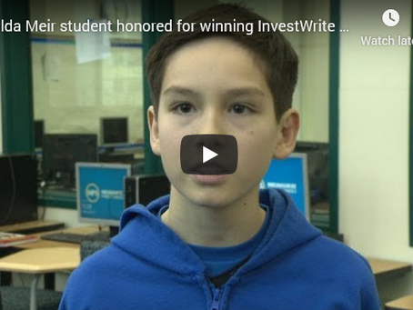 12-Year-Old Financial Expert Gives Winning Portfolio Advice to Nonprofit, Wins InvestWrite Fall 2017