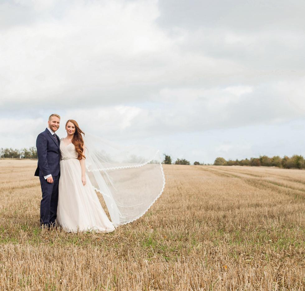 Rustic Barn Wedding couple
