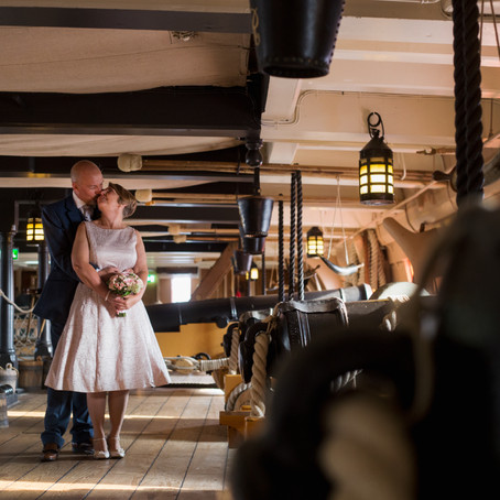 PORTSMOUTH WEDDING AT THE SQUARE TOWER AND HMS VICTORY