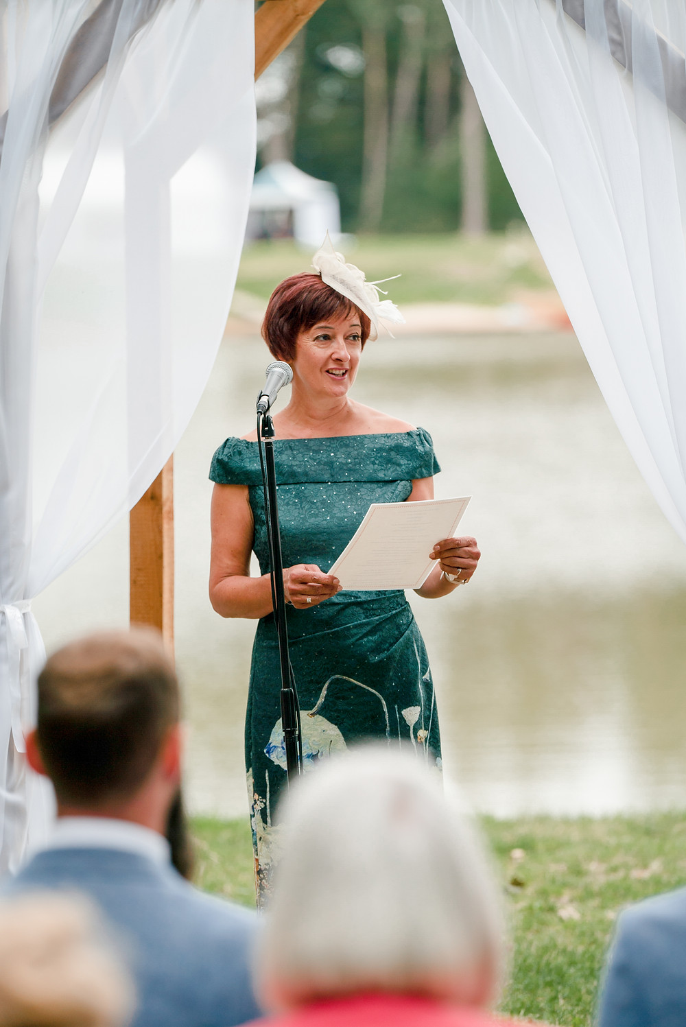 Mother of the bride giving a reading