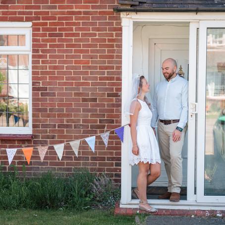 DOORSTEP PORTRAITS WEDDING DAY WINCHESTER