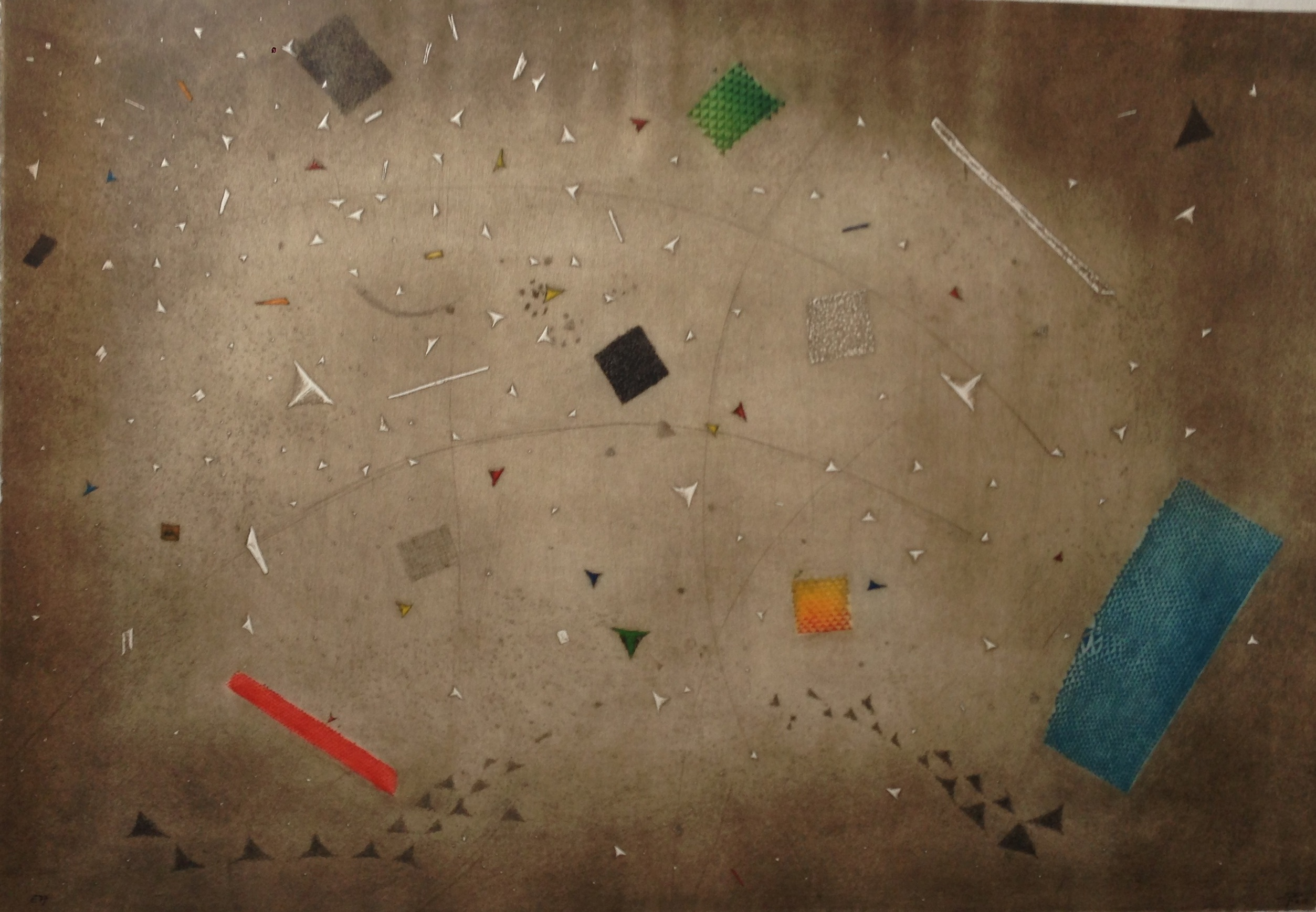 Gravura Piza 81x63cm - VENDIDO