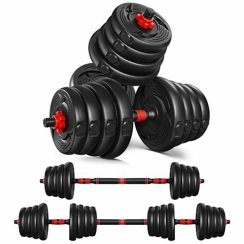 Håndvægtsæt med vægtstang (30 kg)