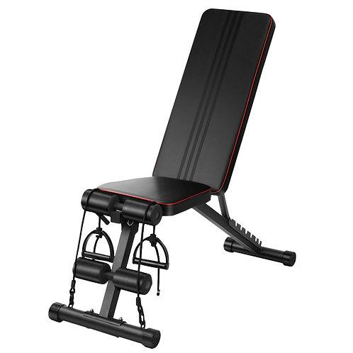 Multivinkel træningsbænk - sort og rød