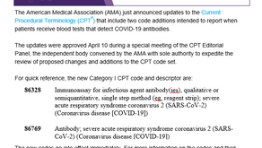 New CPT Codes for COVID-19