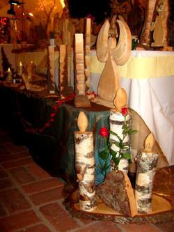 Adventsdekoration aus Holz