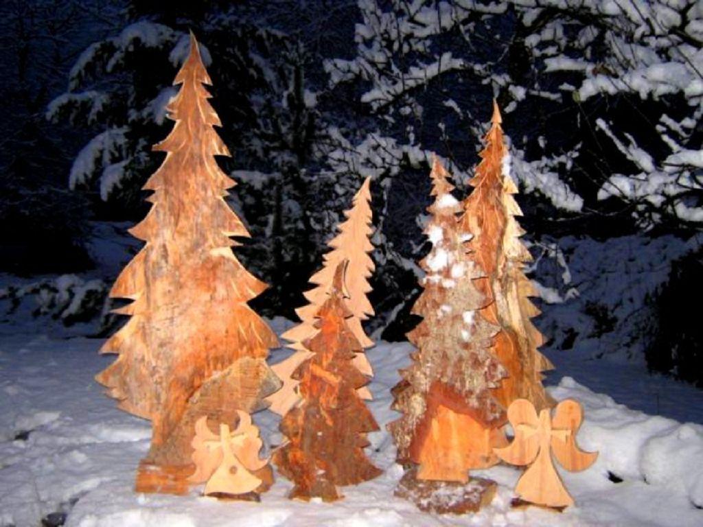 Tannen aus Holz Dekoration