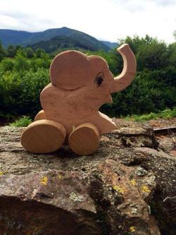 Ziehtier Elefant aus Holz