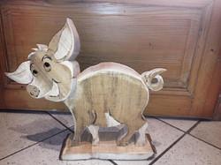 Schwein aus Holz