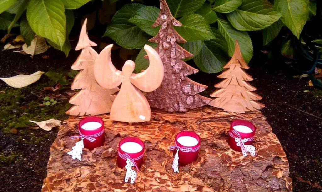 Adventskranz Engel aus Holz
