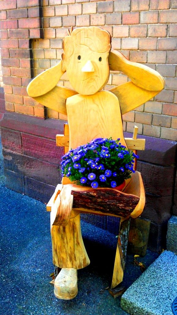 Blumentopf aus Holz