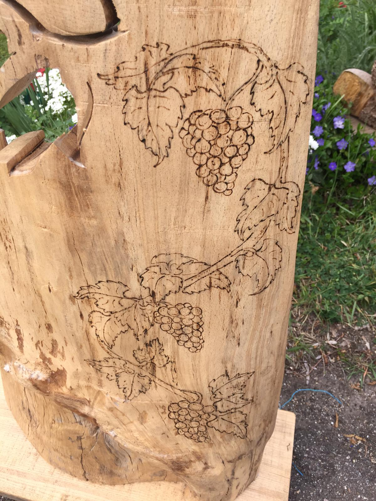 Weinranke Holzdekoration