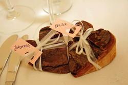 Platzkarte zur Hochzeit Herzform