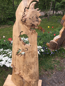 Holzdekoration Weinranke