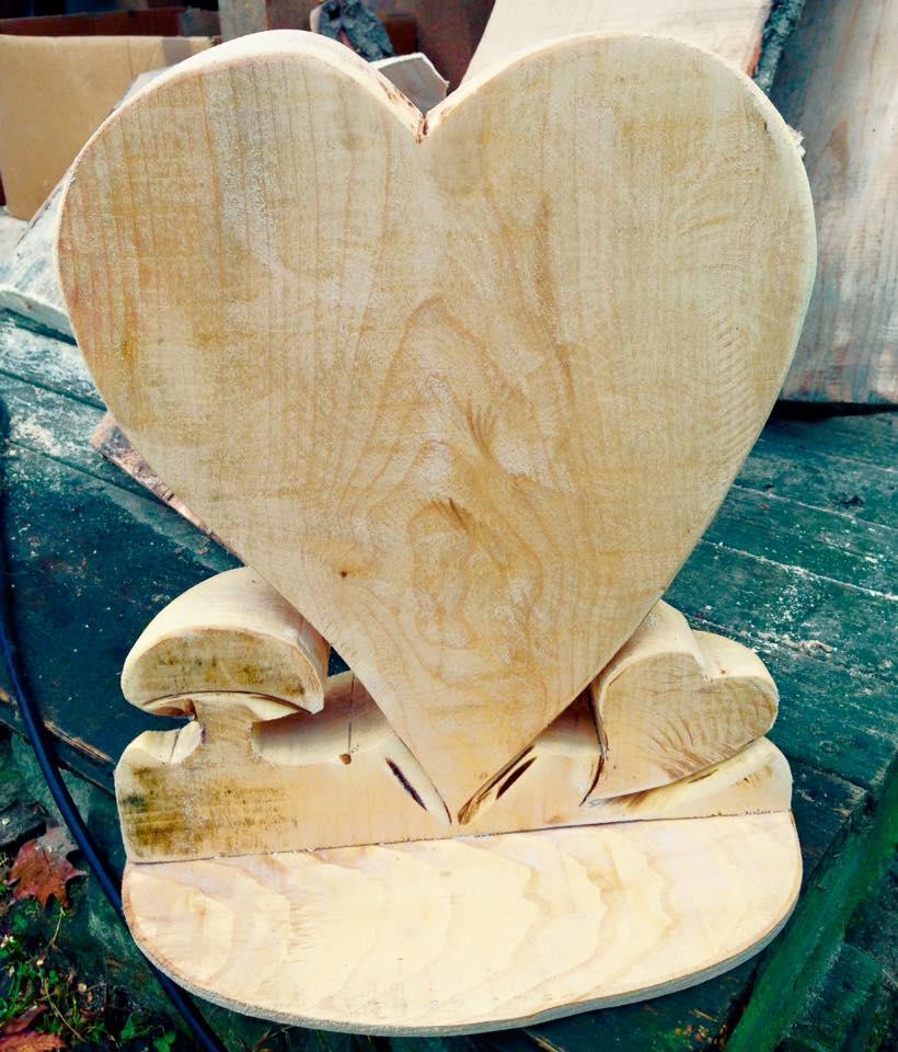 Herz individuell beschriftbar