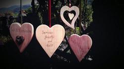 Willkomensschilder Herzen