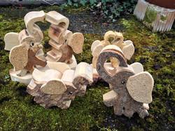 Glücks Elefanten aus Holz