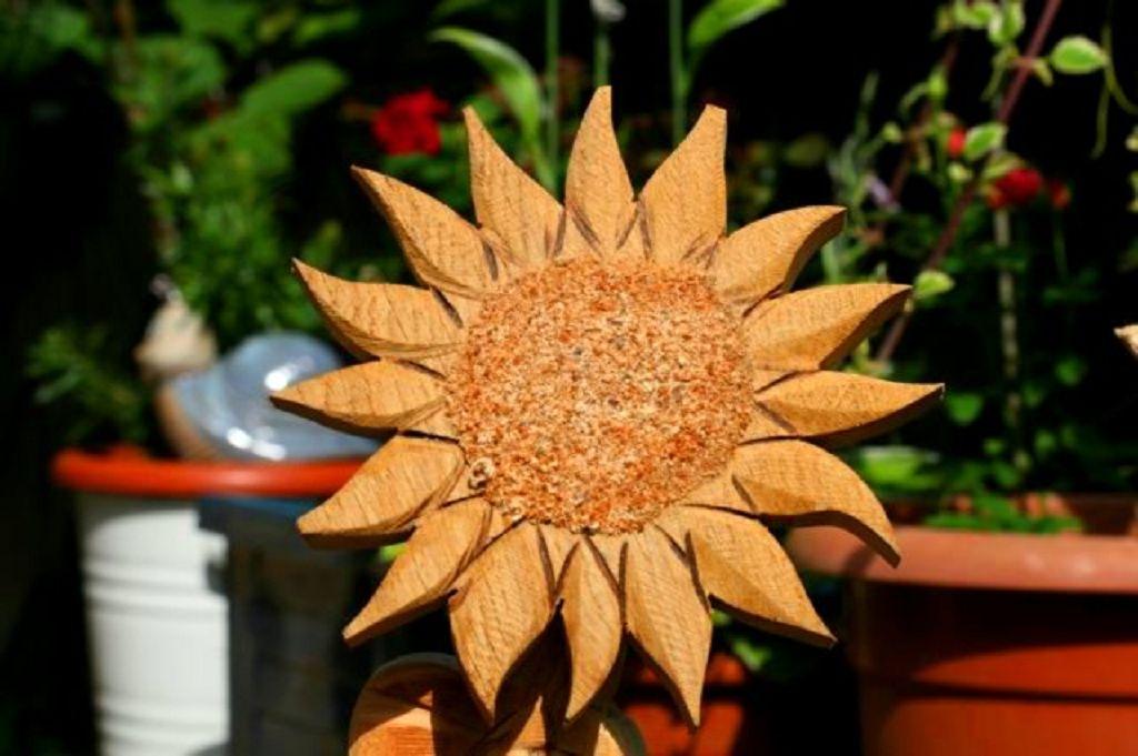 Sonnenblume aus Holz