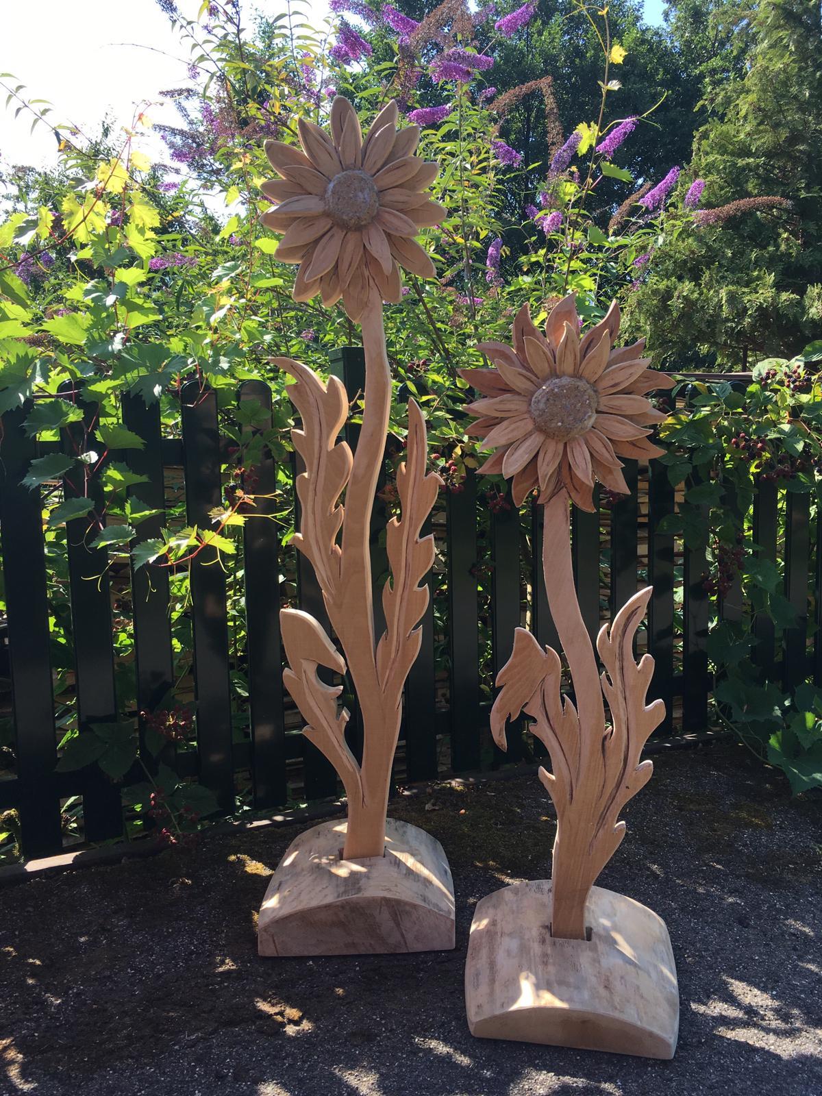 Holzdekoration Gerbera