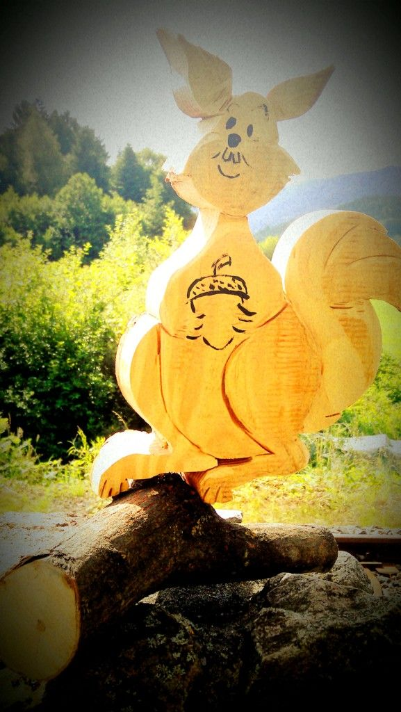 Eichhörnchen aus Holz