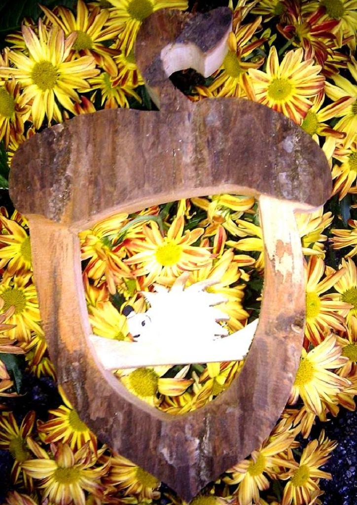 Türdekoration Eichel aus Holz
