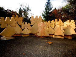 Adventsengel aus Holz
