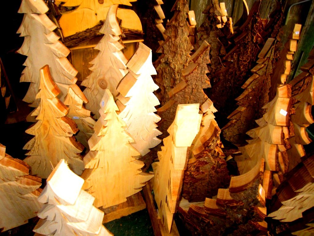 Tannenwald aus Holz Dekoration