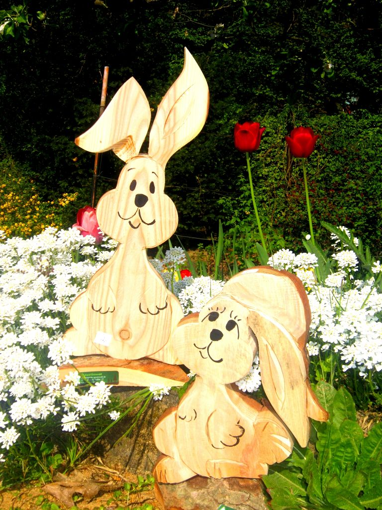 Hasen aus Holz Osterdeko