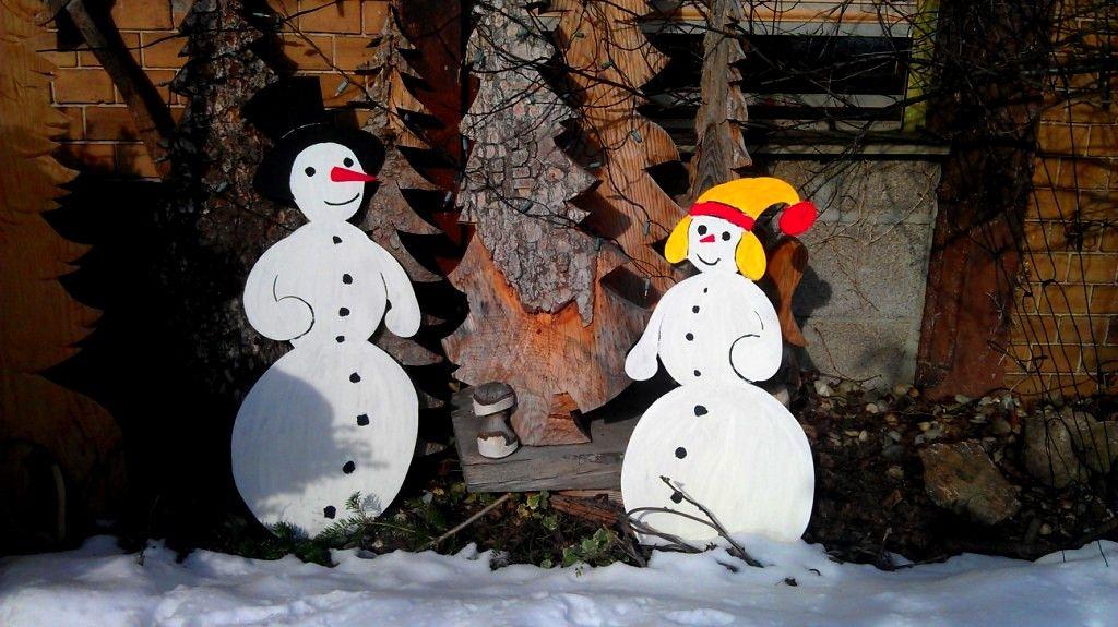 Schneemänner Gartendekoration Winter