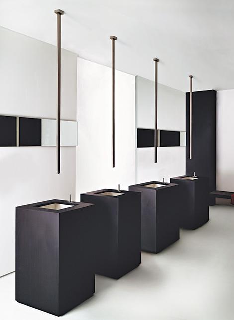 Gessi-Rettangolo-ceilling-mounted-sink