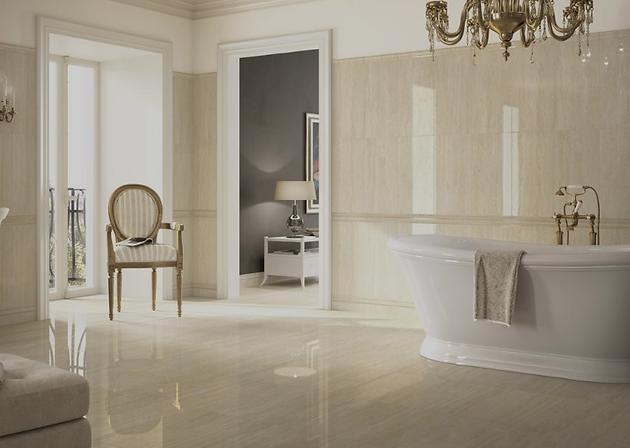 Piastrelle per il bagno: tre stili diversi pavimenti rivestimenti