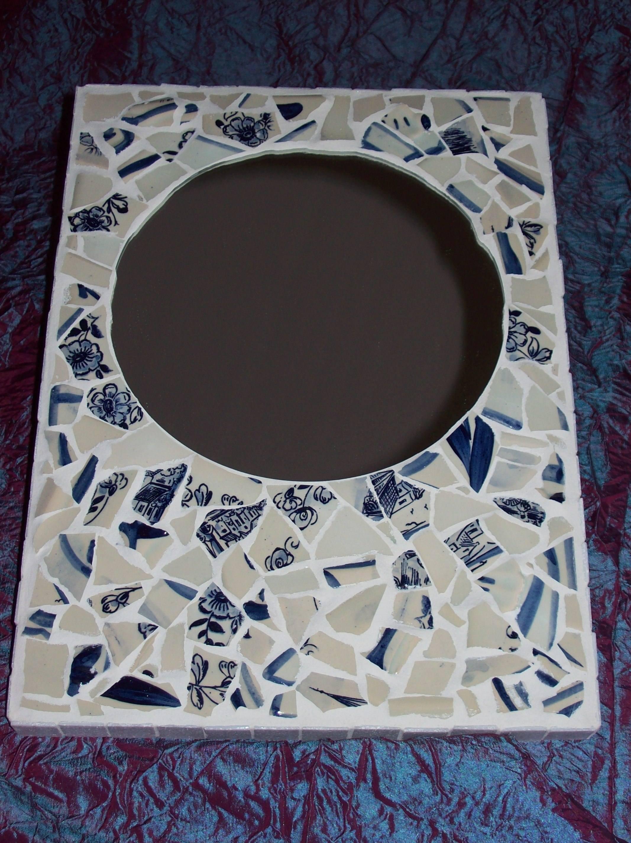 Delftsblauwe spiegel