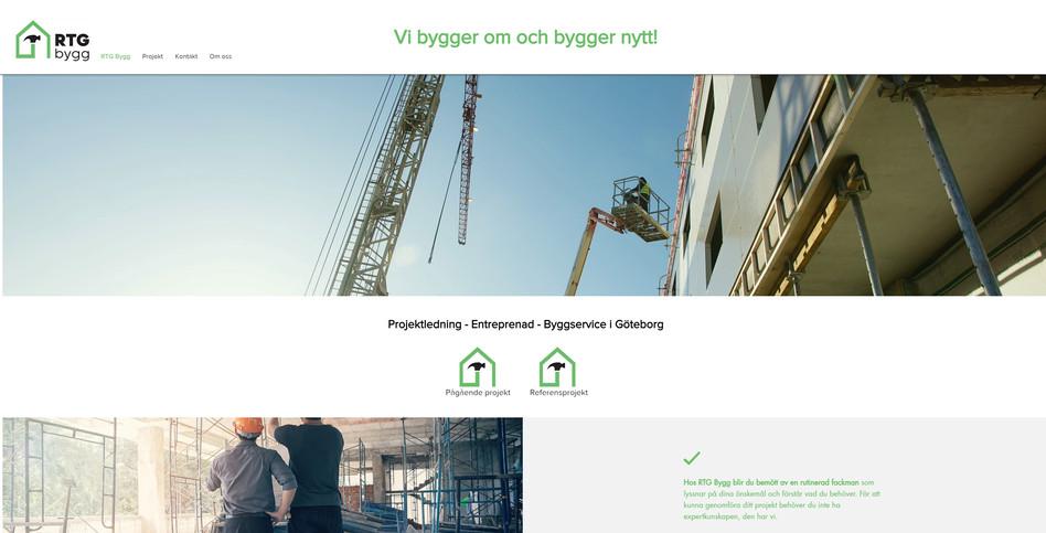 RTG Byggs hemsida