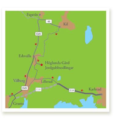Karta till Höglunda Gård