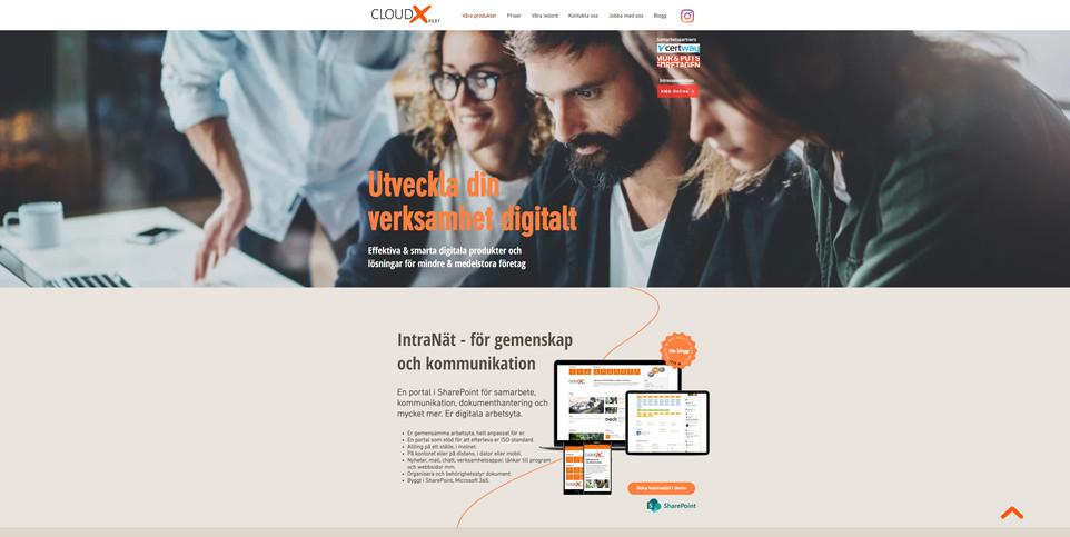 CloudXpert hemsida