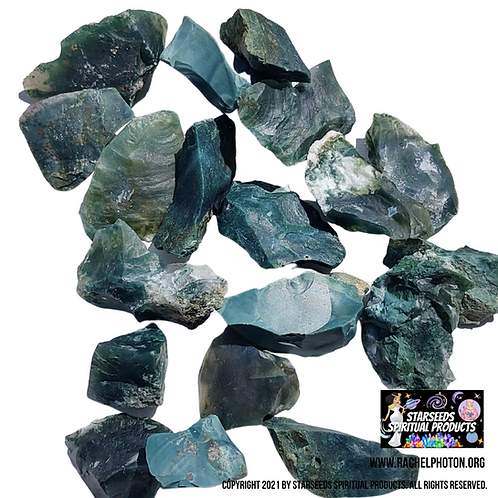 GREEN JASPER (TWO PIECES NATURAL) - STARSEEDS SPIRITUAL PRODUCT