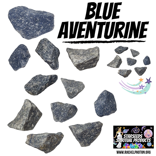BLUE AVENTURINE (ONE PIECE RAW) - STARSEEDS SPIRITUAL PRODUCTS BY RACHEL PHO