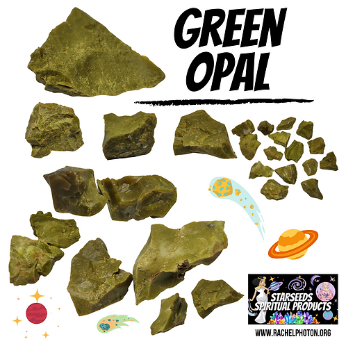 GREEN OPAL (ONE PIECE RAW) - STARSEEDS SPIRITUAL PRODUCTS BY RACHEL PHOTON