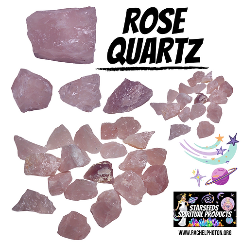 ROSE QUARTZ (ONE PIECE RAW) - STARSEEDS SPIRITUAL PRODUCTS BY RACHEL PHOTON