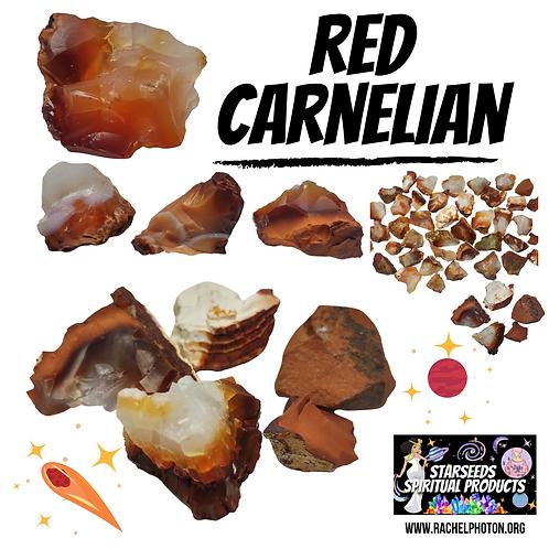 RED CARNELIAN (ONE PIECE RAW) - STARSEEDS SPIRITUAL PRODUCTS BY RACHEL PHOTON