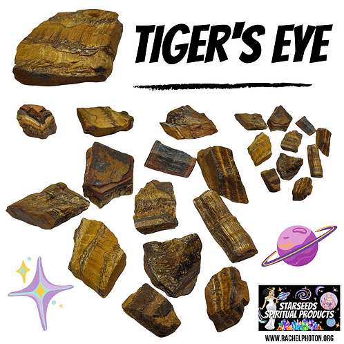 TIGER'S EYE (ONE PIECE RAW) - STARSEEDS SPIRITUAL PRODUCTS BY RACHEL PHOTON