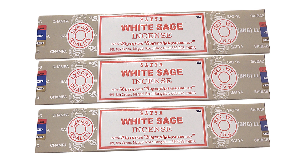 White Sage Scented Satya Brand Incense