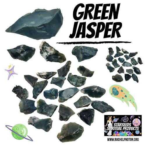 GREEN JASPER (ONE PIECE RAW) - STARSEEDS SPIRITUAL PRODUCTS BY RACHEL PHOTON