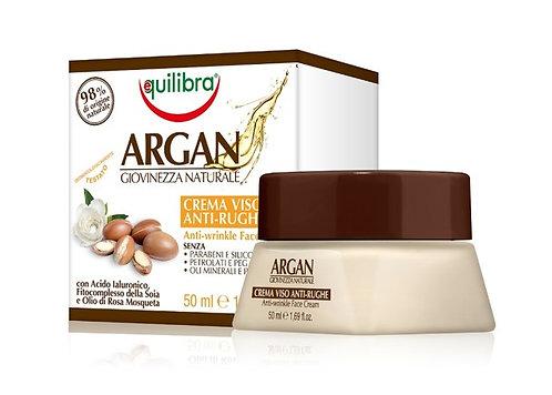 Equilibra Arganovo olje krema za obraz proti gubam 50 ml