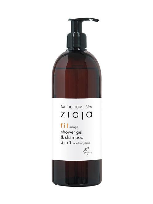 Ziaja BALTIC HOME SPA FIT Gel za prhanje & šampon 3 v 1 obraz telo lasje 500ml